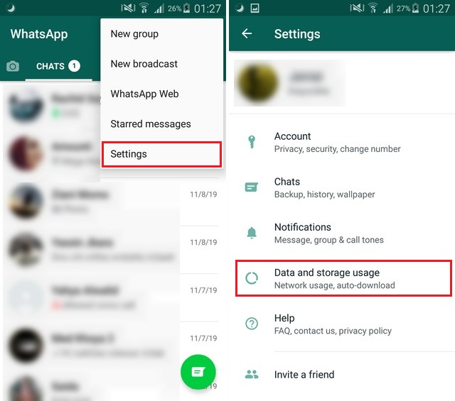 Disable Media Auto Download in WhatsApp