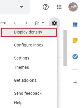 How to change your inbox Display to Compact