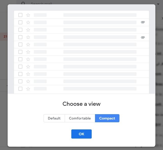 Switch to Compact View in the New Gmail