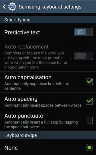 turn Off Autocorrect on Samsung Galaxy S4