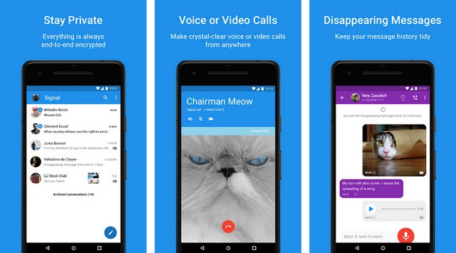 Signal Private Messenger - iMessage Alternatives for Android