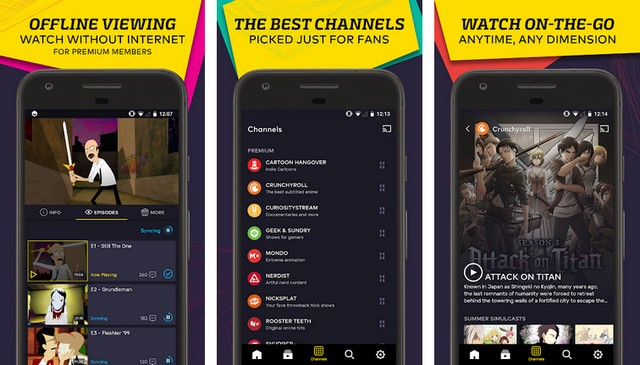VRV - video streaming app