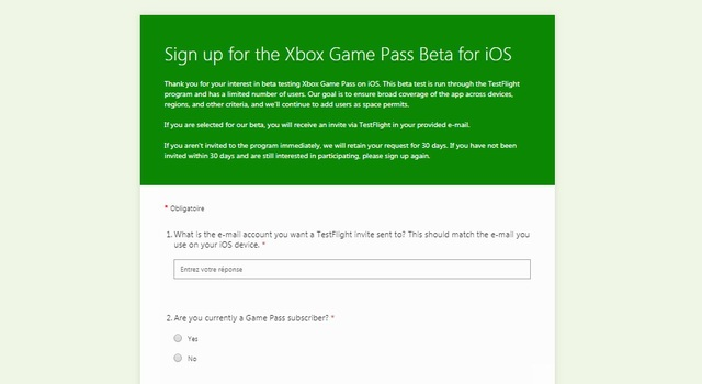 get Xbox Game Pass App on IOS