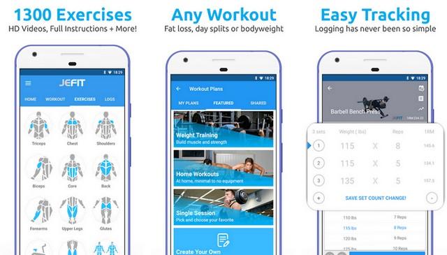 JEFIT Workout Tracker