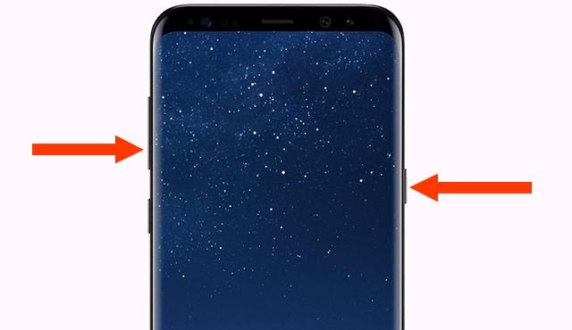 Screenshot on the Samsung Galaxy S8
