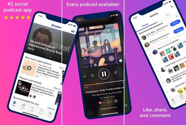 Breaker - Best Podcast App