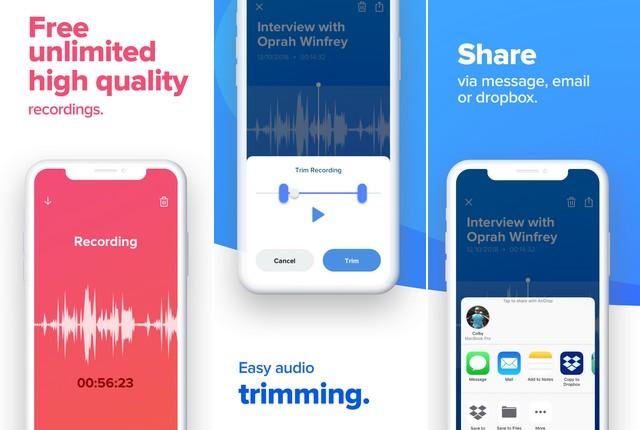 Rev Voice Recorder App