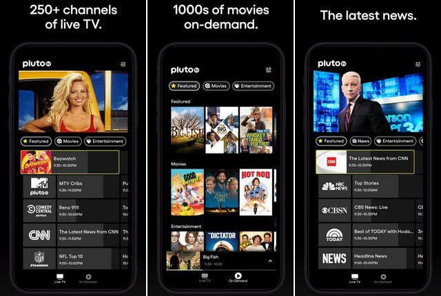 Pluto TV - Best Movie App for iPhone