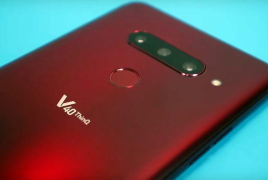 How to take a screenshot on LG V40 ThinQ
