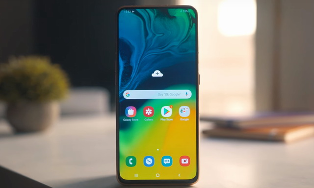 Record Screen on Samsung Galaxy A80