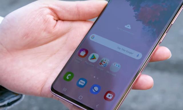 Screenshot on Galaxy S20 via Bixby