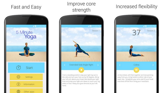 5 Minute Yoga - Best Home Workout App