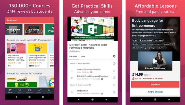 Udemy - Best app to learn new skills