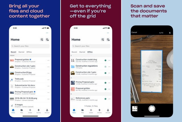 Dropbox - Best Work from Home App