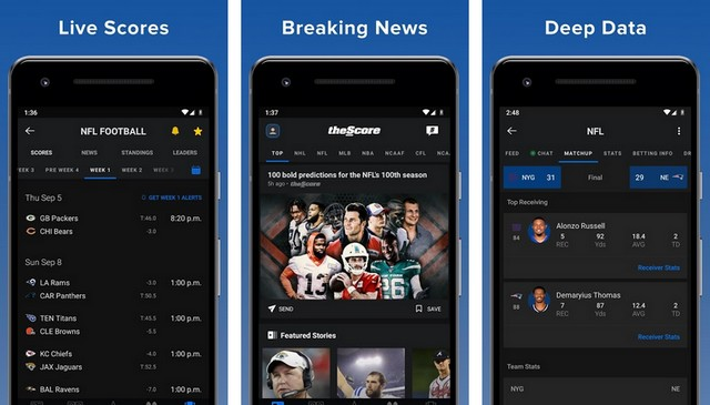 TheScore - Best Baseball App for Android