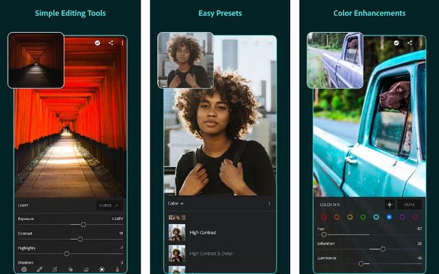 Adobe Lightroom - Best Android App for Artists