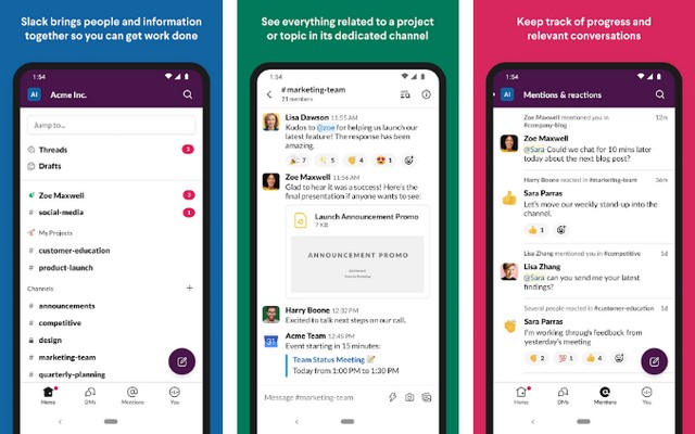Slack - best productivity app