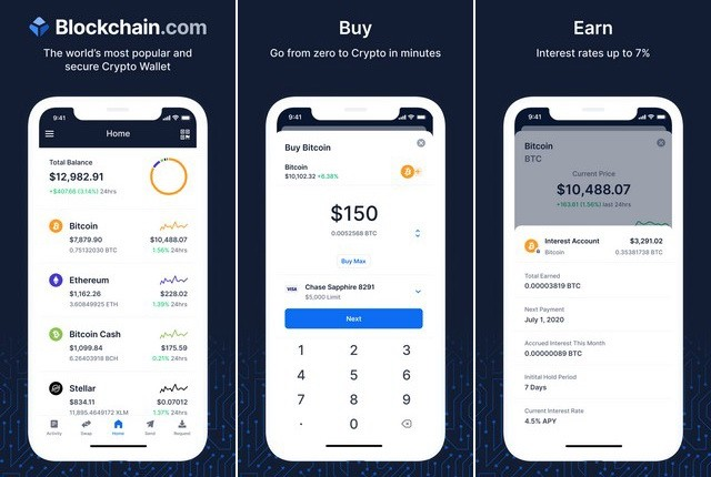 Blockchain Wallet - Best Cryptocurrency App
