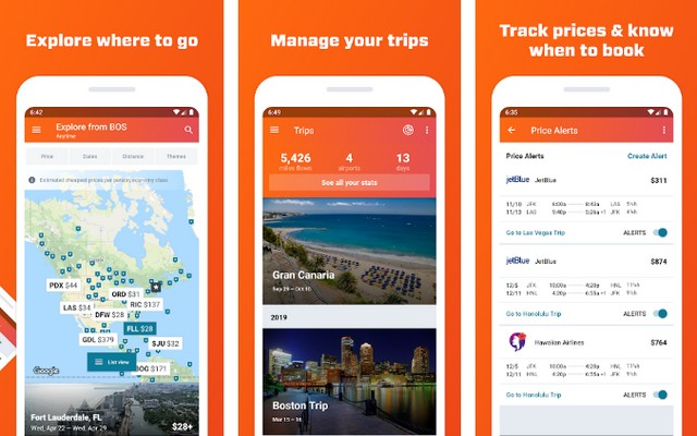 KAYAK - Best Road Trip App