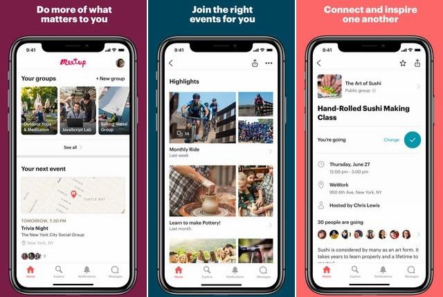 Meetup - Best App to Make New Friends