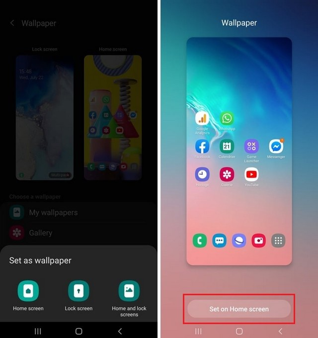How to Change Wallpaper on Galaxy F41
