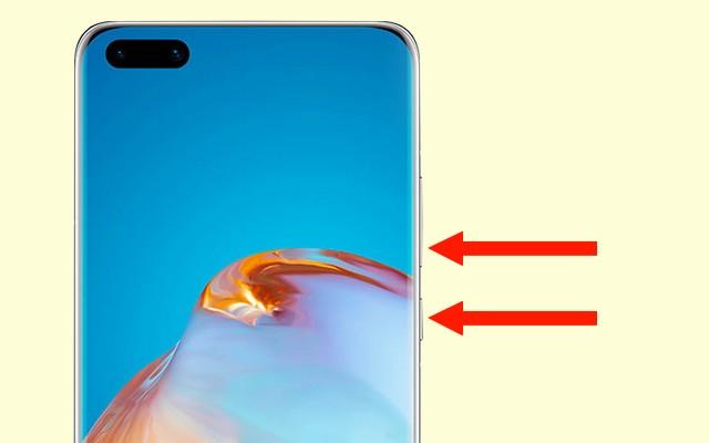 Screenshot on Huawei P40 Pro