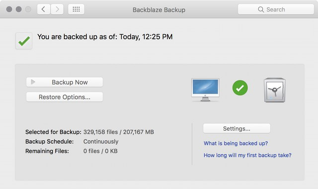 Backblaze - Best Backup Software for Mac