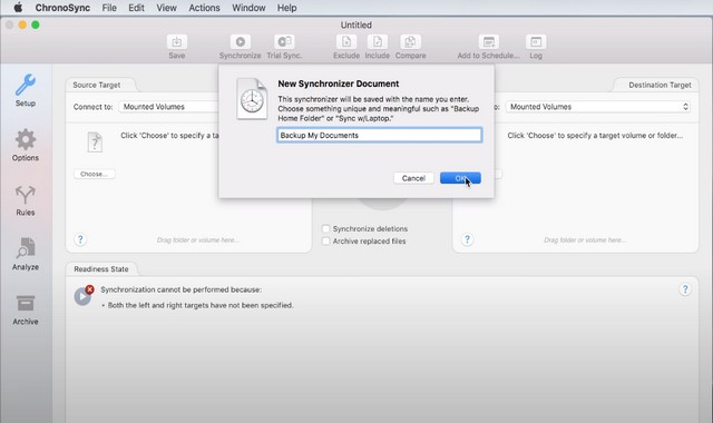 ChronoSync - Best Backup Software for Mac