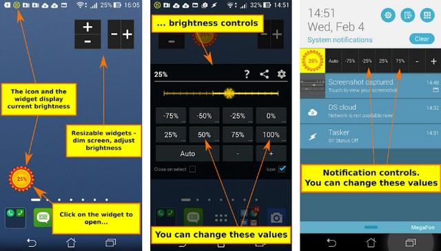 Brightness Control & Dimmer