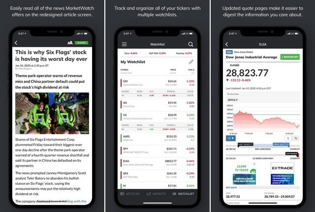MarketWatch - Investment App for iPhone