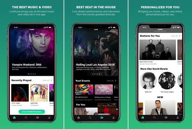 LiveXLive - Best Radio App for iPhone