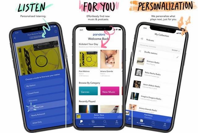 Pandora - Alternative to Google Play Music