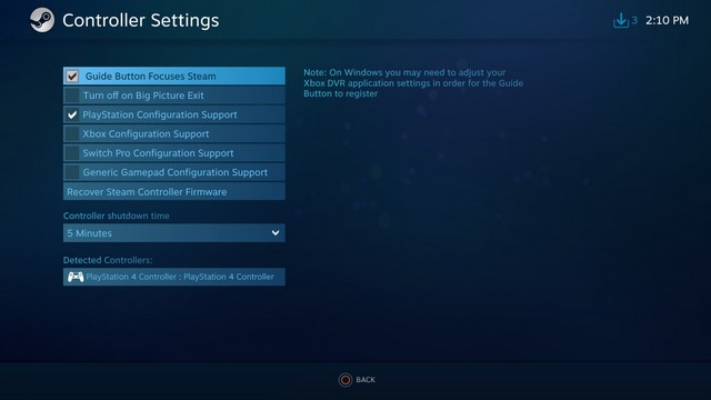 Connect the PS4 Controller to Windows 10 Using Steam