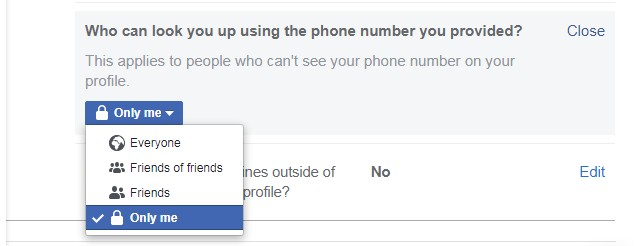 How to Hide your Phone Number from Facebook