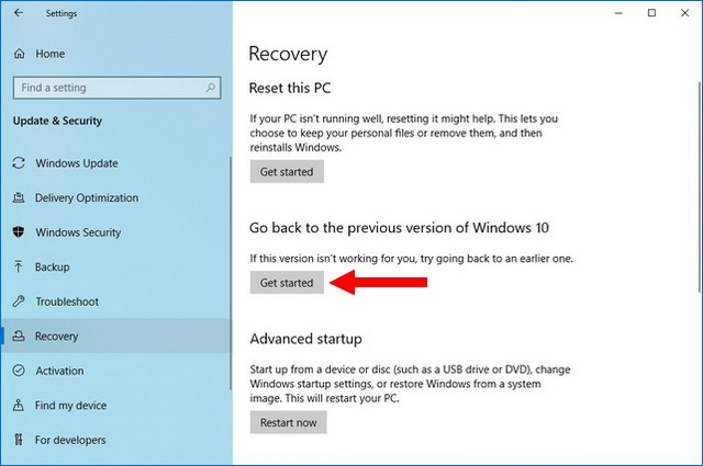 How to Uninstall Feature Update on Windows 10