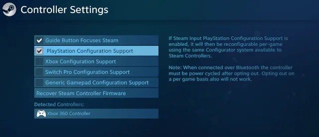 PlayStation Configuration Support