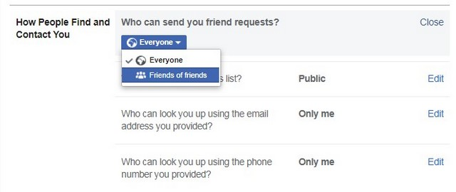 Who can send you friend requests