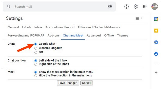 Activate Google Chat