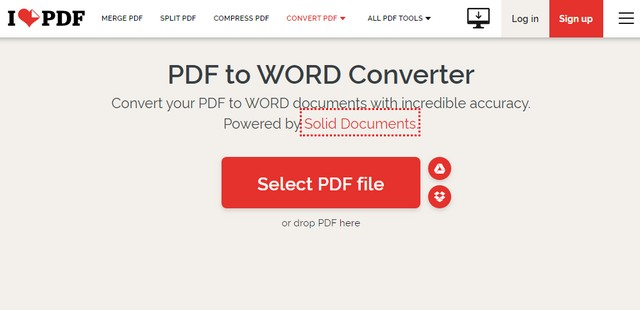Convert a PDF to a Microsoft Word Document