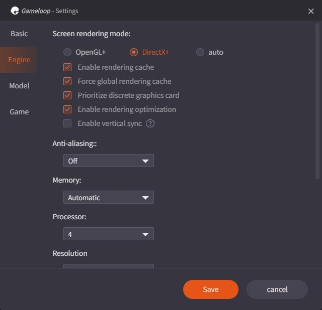 Customize the GameLoop Settings