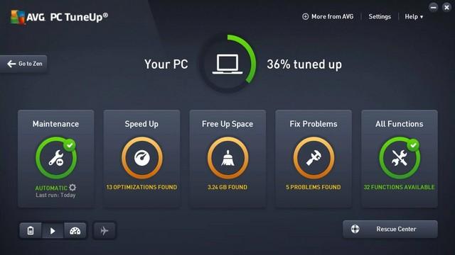 AVG TuneUp - Best Registry Cleaner for Windows 10