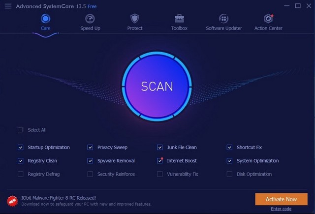 Advanced SystemCare - Best Registry Cleaner for Windows 10