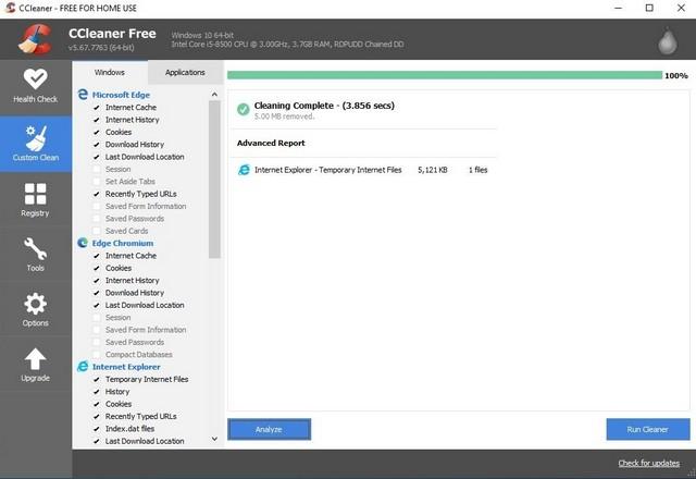 CCleaner - Best Registry Cleaner for Windows 10