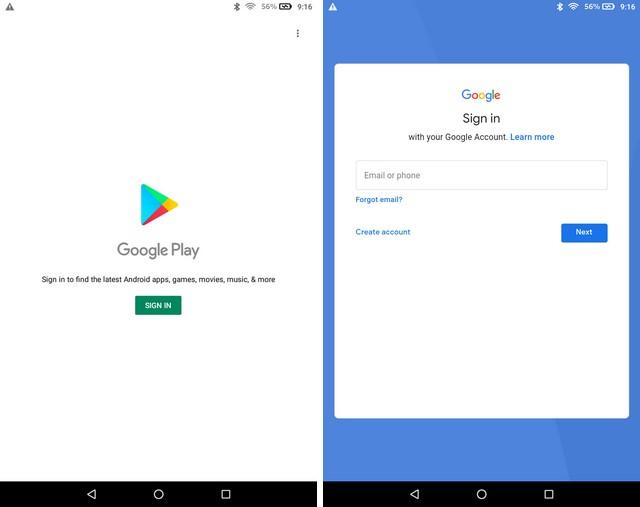 Using Google Play Store
